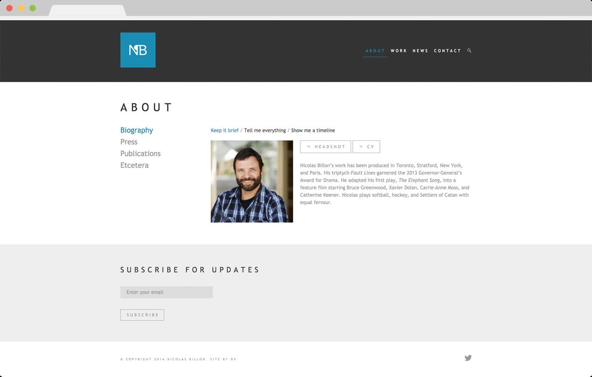 Nicolas Billon - Website Design & Development