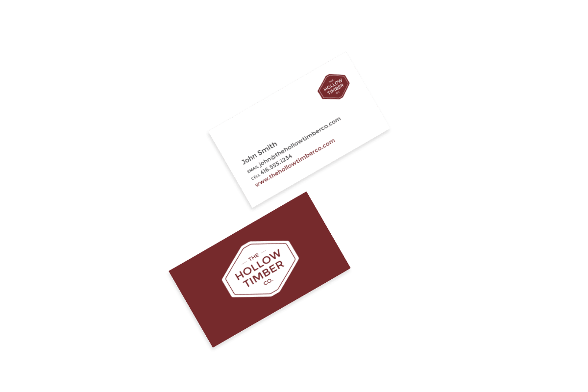 The Hollow Timber Co. - Business Cards