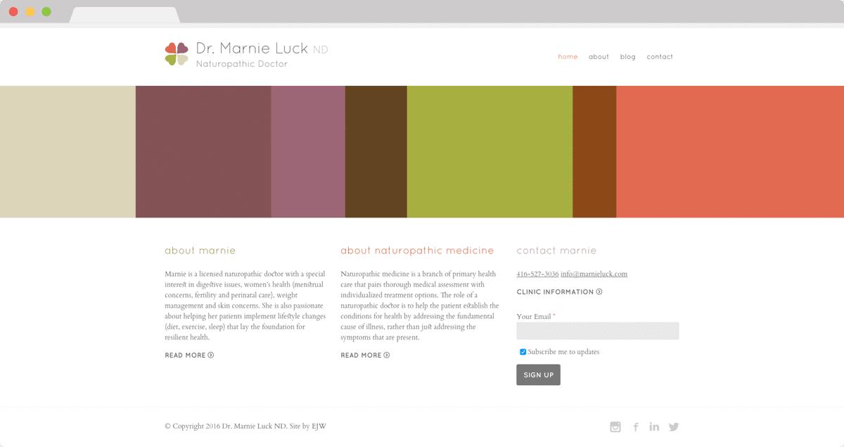 Dr. Marnie Luck - Website Design & Development