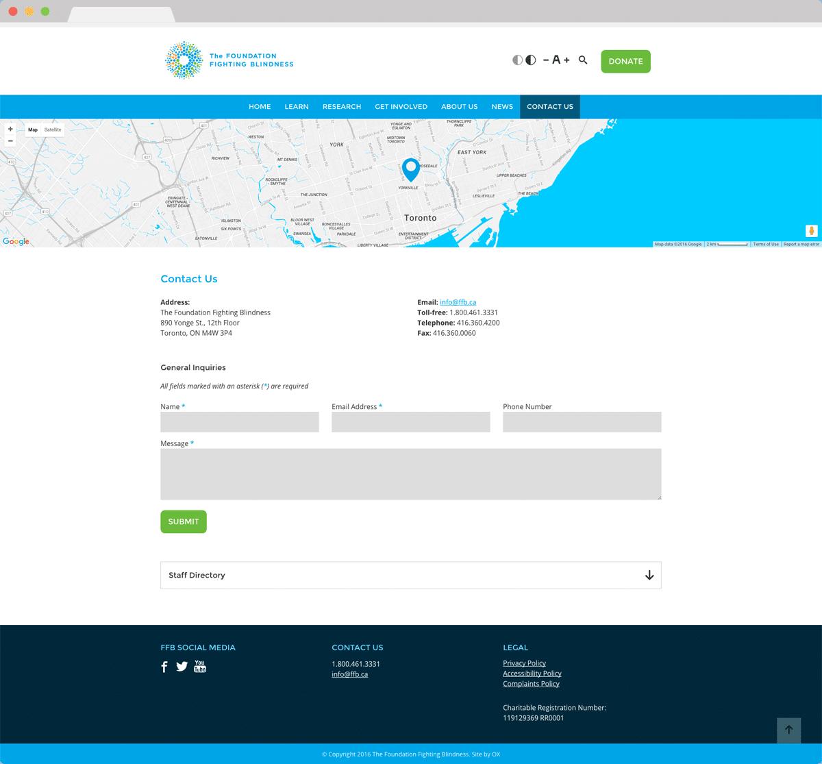 The Foundation Fighting Blindness - Website Design & Development
