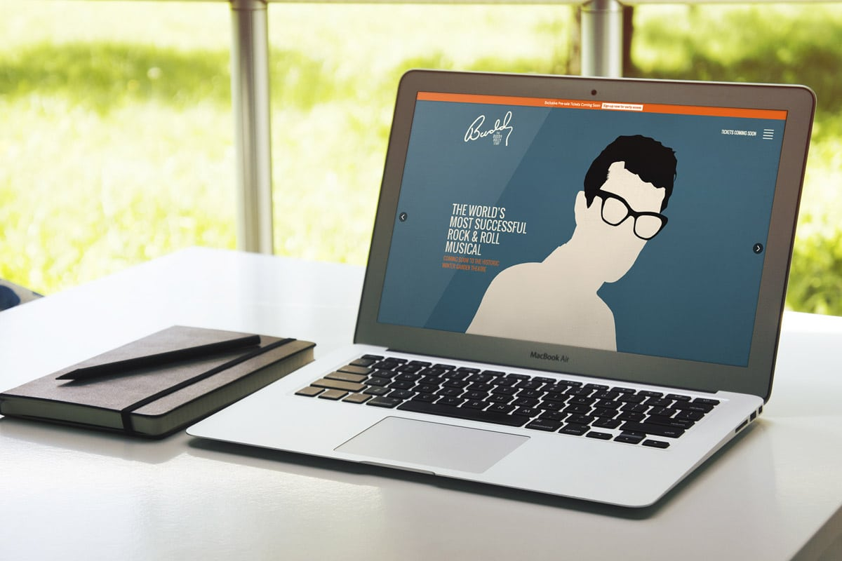 The Buddy Holly Story - Website Design & Development