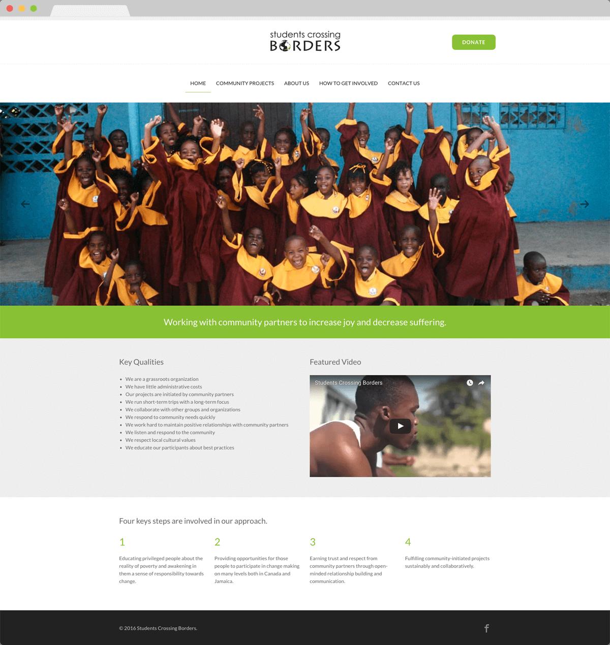 Students Crossing Borders - Website Design & Development